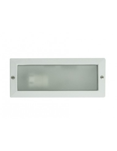Empotrable exterior Liso blanco IP44...