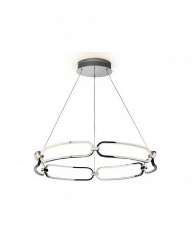 Lámpara de techo Colette cromo Ø80cm...
