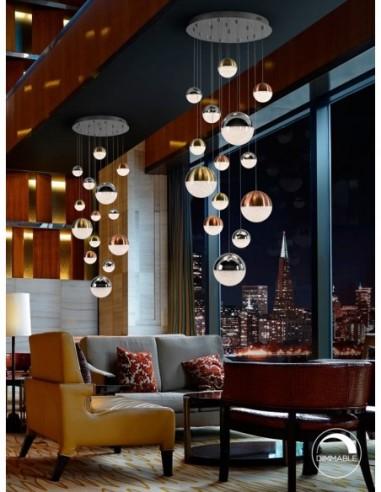 Lámpara de techo led Sphere 14 luces...