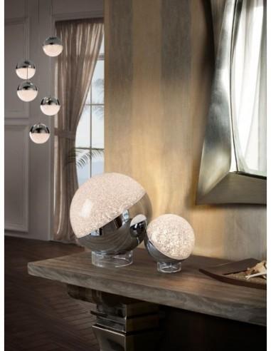 Lámpara sobremesa led Sphere cromo...