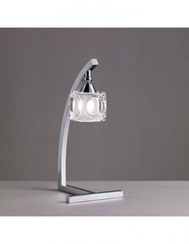 Lámpara sobremesa Cuadrax 1L cromo...