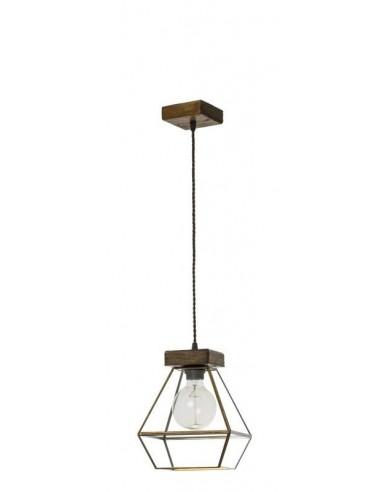 Lámpara de techo rústica de madera...