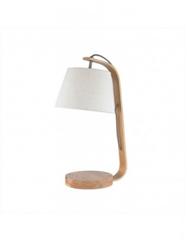 Lámpara sobremesa de madera de fresno...