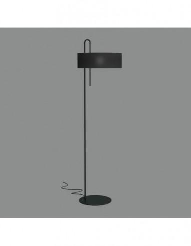 Lámpara de pie negra Clip H8178N de ACB
