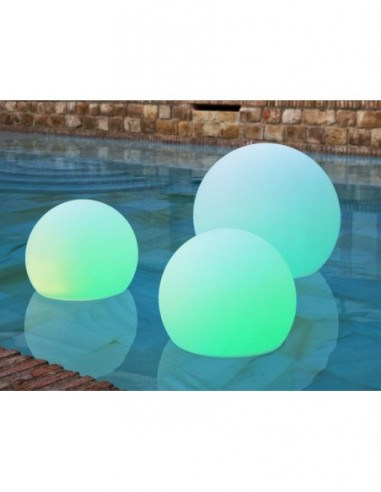 Bola luminosa flotante para piscina...