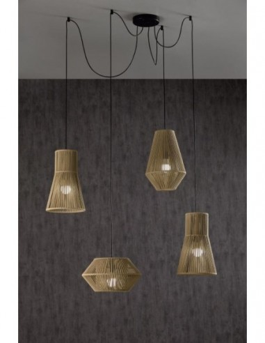 Lámpara de techo 4 Luces KIT...