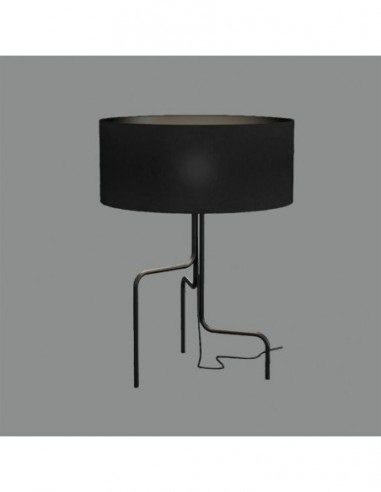 Lámpara sobremesa negra Borneo S8179N...