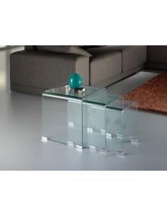 Mesas nido de cristal Glass...