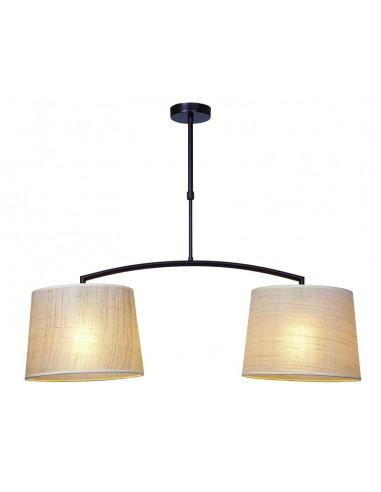 Lámpara rústica lineal con pantallas...