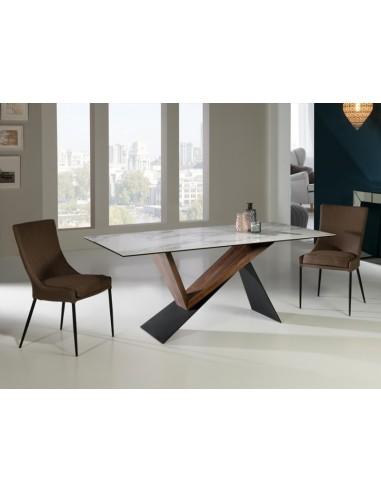 Mesa de comedor madera nogal 742350...