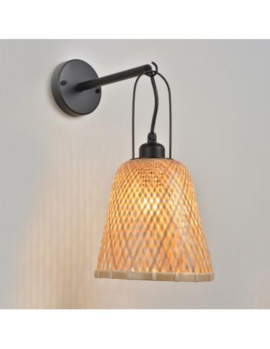 Lámpara aplique exterior bambú Kami...