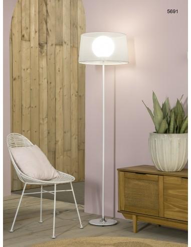 Lámpara de pie blanca Zurich 04-5691...