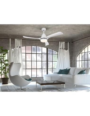 Ventilador de techo blanco de led...