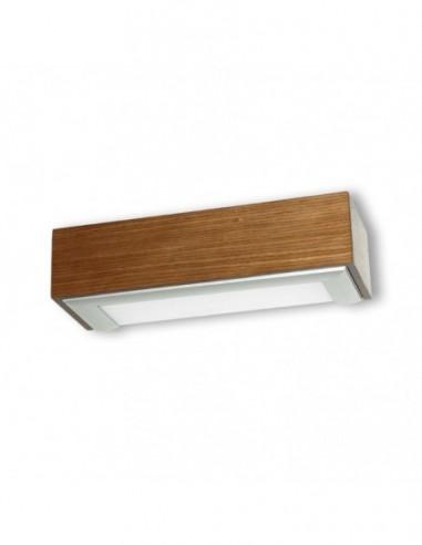 Lámpara aplique Box madera natural 1L...
