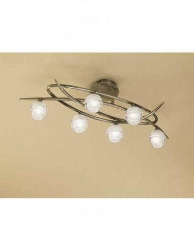 Lámpara plafón Loop 6 Luces cuero...