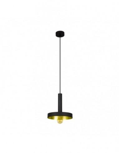 Lámpara de techo Whizz negro y oro...
