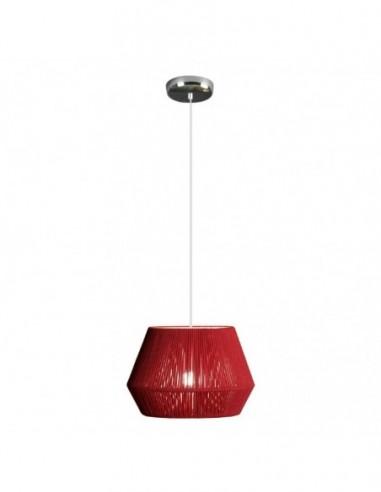 Lámpara colgante Banyo 1L rojo...