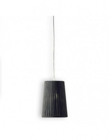 Lámpara colgante Drum Ø:18cm gris...