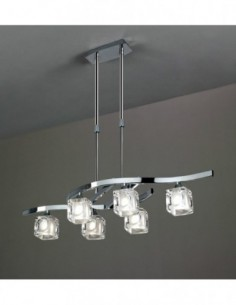 Lámpara Cuadrax 6L cromo...