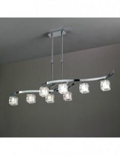 Lámpara Cuadrax 8L cromo...