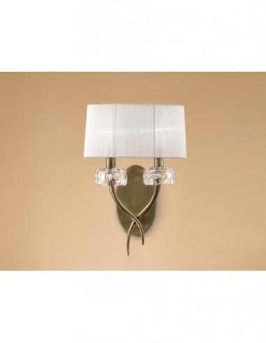 Lámpara aplique Loewe  2L cuero 4734...