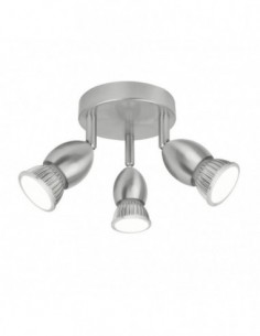 Lámpara plafón 3L níquel...