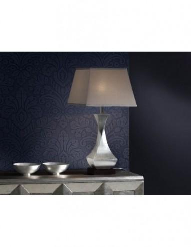 Lámpara de mesa Deco pan de plata...