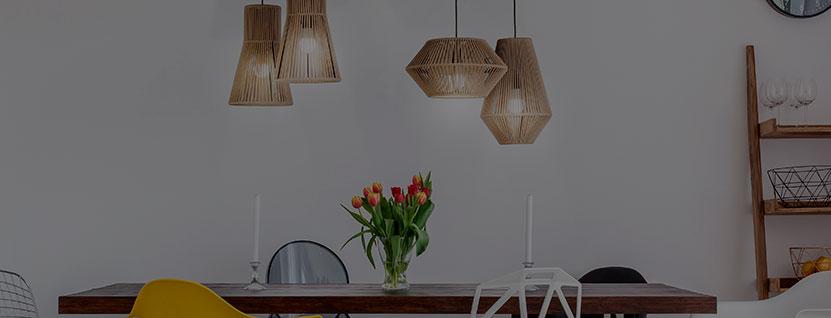 Lámparas de techo para mesas