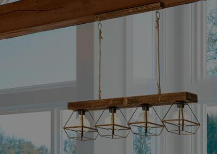 Lámparas de madera artesanales